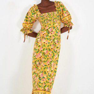 FARM Rio Mini Cashew Maxi Dress M